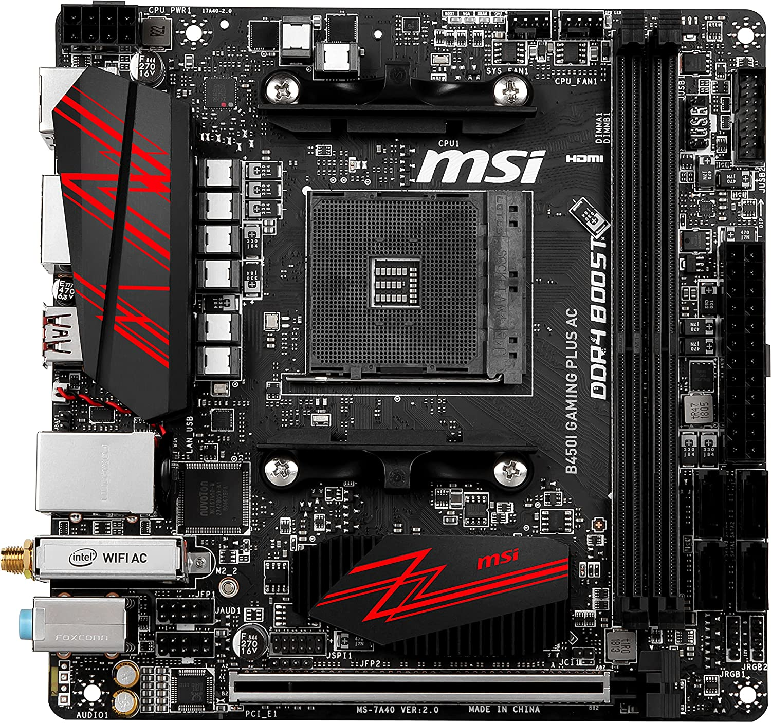 MSI B450I GAMING Plus AC Mini ITX motherboard