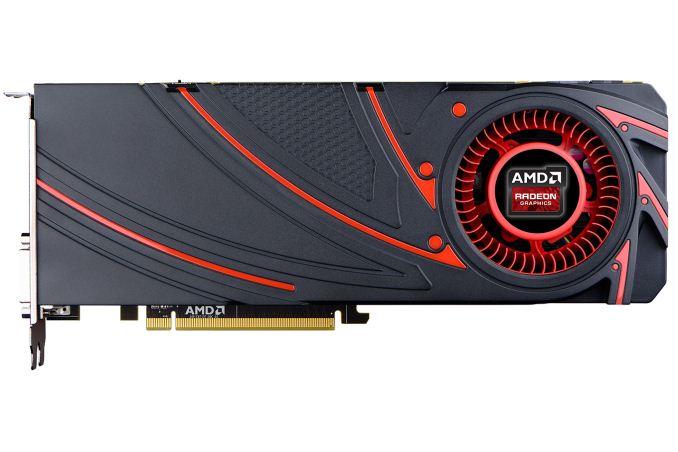 The AMD Radeon R9 290 video card.
