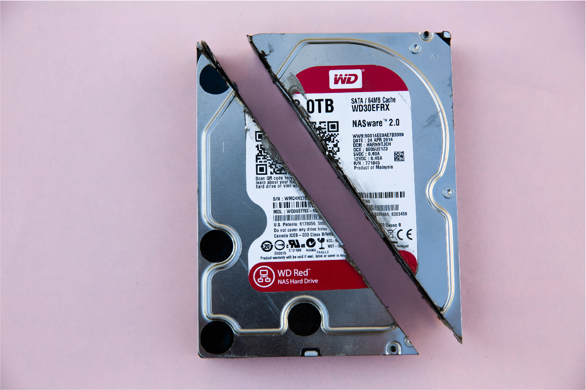 A PC hard disk drive