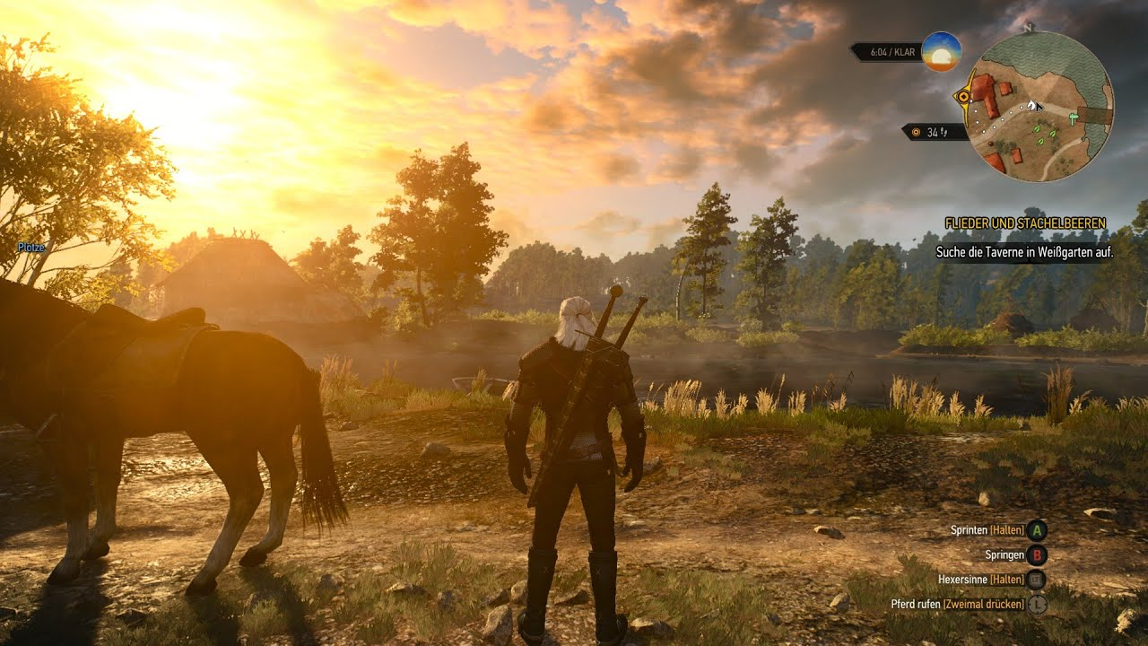 Witcher 3: Wild Hunt Xbox gameplay